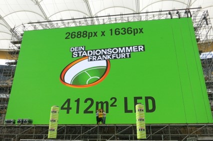 Outdoor LED Sport Venue comercial bank Arena Frankfurt