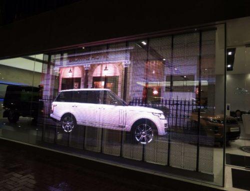 Transparent LED, Commercial, Land Rover Showroom HK