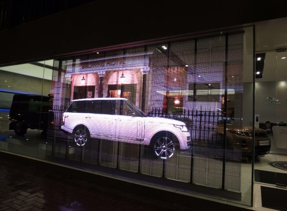 Trans LED Commercial Land Rover Showroom HK