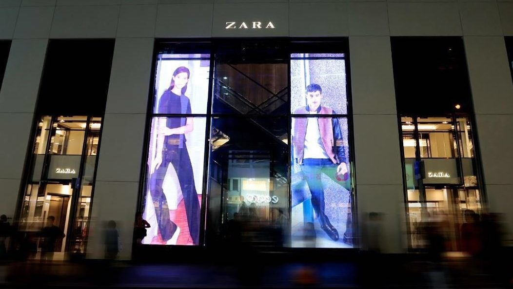 Trans LED corporate branding Zara HK