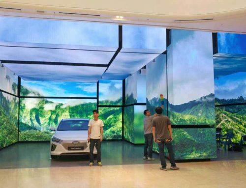 Indoor LED Screen Display, Hyundai Flag Store Korea, P2.6, 500sqm