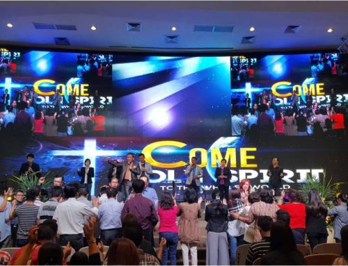 Indoor LED Screen Display, GBI WTC Serpong Church Indonesia, P3.0, 12x5m