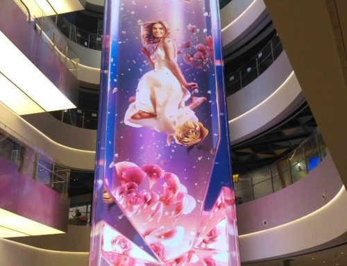 Indoor LED Screen Display, SHINSEGAE New World Department Store Korea, P3.9, 3 sides 22m high