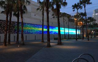 Usurface16 in Sydney Ryoji Ikea LED video wall 96x4m