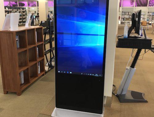55 inch Standing Mobile Kiosk
