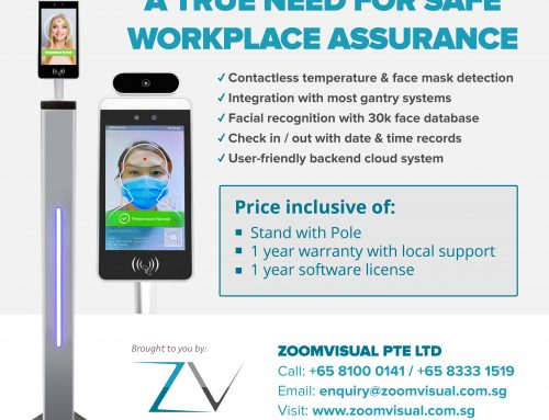 Zoom Visual Pte Ltd now offers Facial Biometric Thermometer (A Trusted Brand for Thermal Scanner)